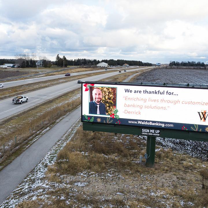 Waldo State Bank Billboard