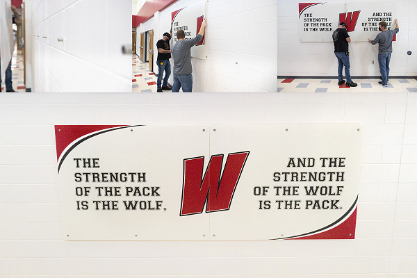 Large Sign Install