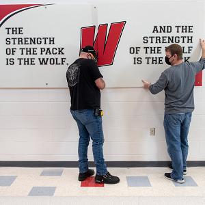 Wilson School Sign Install