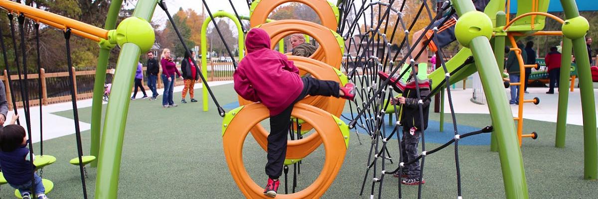 Kids playing at Shaw Playground